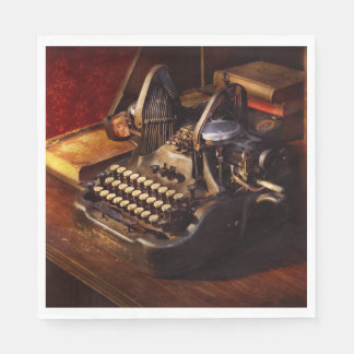 Steampunk - Oliver's typing machine Disposable Napkin