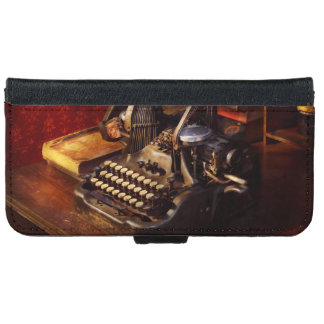 Steampunk - Oliver's typing machine iPhone 6 Wallet Case