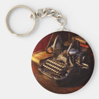 Steampunk - Oliver's typing machine Key Ring