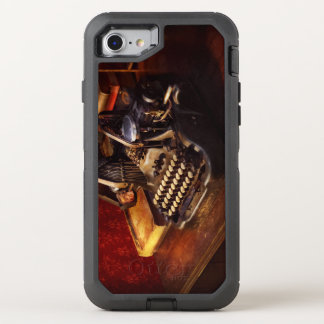 Steampunk - Oliver's typing machine OtterBox Defender iPhone 8/7 Case