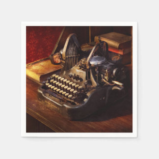 Steampunk - Oliver's typing machine Paper Napkin