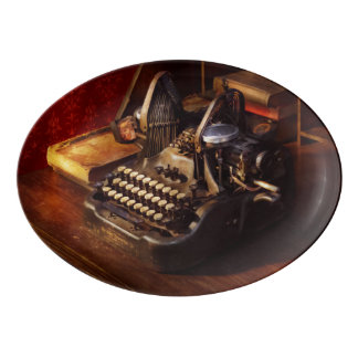 Steampunk - Oliver's typing machine Porcelain Serving Platter