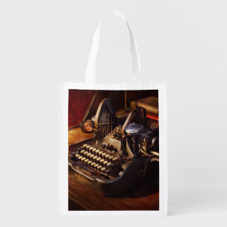 Steampunk - Oliver's typing machine Reusable Grocery Bag