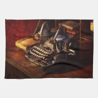Steampunk - Oliver's typing machine Tea Towel