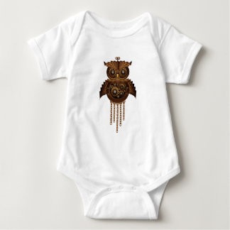 Steampunk Owl Vintage Style Baby Bodysuit