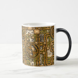 Steampunk Panel - Gears and Pipes - Brass Magic Mug