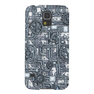 Steampunk Panel - Gears and Pipes - Steel Galaxy S5 Cases