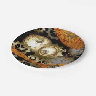 Steampunk Paper Plate