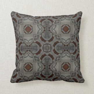 Steampunk Pewter Cogs II Cushion