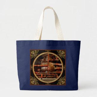 Steampunk - Pipe dreams Large Tote Bag