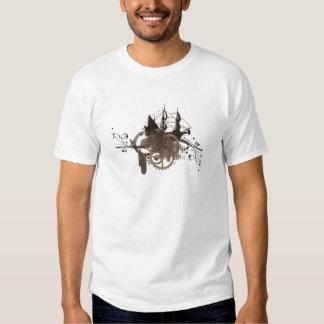 Steampunk pirate ship tshirt