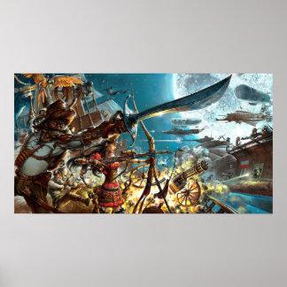 Steampunk Pirates Poster