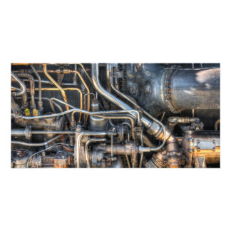 Steampunk Plumbing Pipes Personalised Photo Card