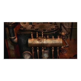 Steampunk - Plumbing - The valve matrix Customized Photo Card