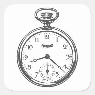 Steampunk Pocket Watch Square Sticker