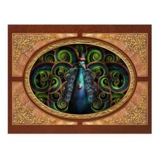 Steampunk - Pretty as a peacock Postcard