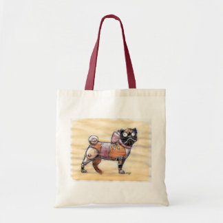 Steampunk Pug Tote Bag