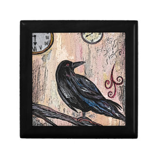 Steampunk Raven with Clocks Gift Box