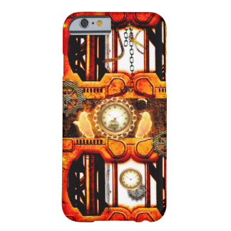 Steampunk red golden design barely there iPhone 6 case