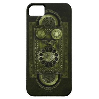Steampunk Rotary Dial, Vintage Style, Green Case For The iPhone 5