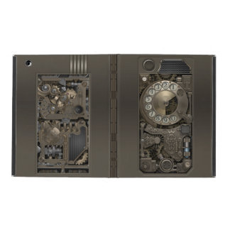 Steampunk Rotary Metal Dial Phone. iPad Folio Case