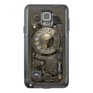 Steampunk Rotary Metal Dial Phone. OtterBox Samsung Note 4 Case