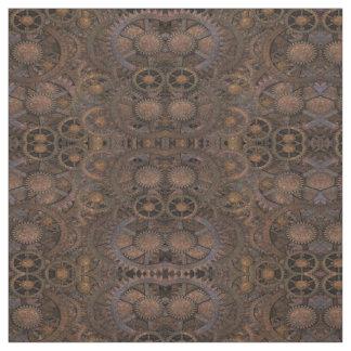 Steampunk Rusty Cogs Fabric
