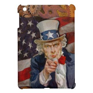 Steampunk Sam Patriotic US Flag Design Cover For The iPad Mini