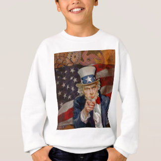 Steampunk Sam Patriotic US Flag Design Sweatshirt