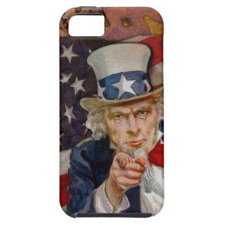 Steampunk Sam Patriotic US Flag Design Tough iPhone 5 Case