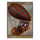 Steampunk Santa greeting card