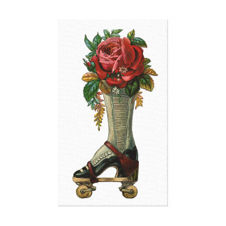 Steampunk Shoe Skate Gallery Wrapped Canvas