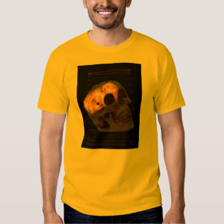 Steampunk skeleton skull machinery cogs rust t shirt