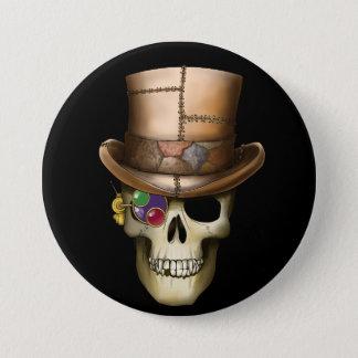 Steampunk Skull 7.5 Cm Round Badge
