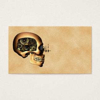 Steampunk Skull Business Card