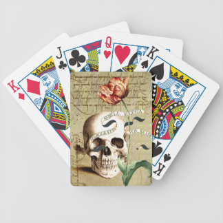 Steampunk Skull Floral Bicycle® Playing Cards