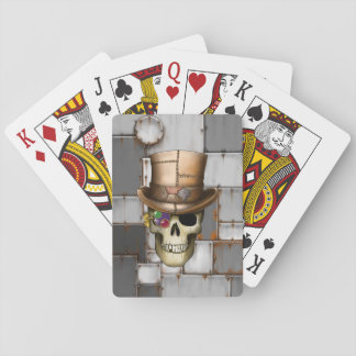 Steampunk Skull Playing Cards