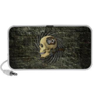 Steampunk Skull Laptop Speakers