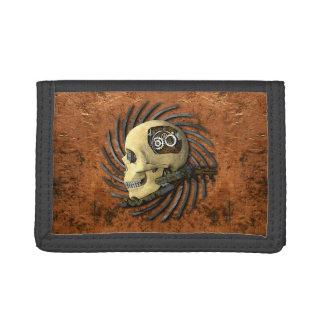 Steampunk Skull Tri-fold Wallets
