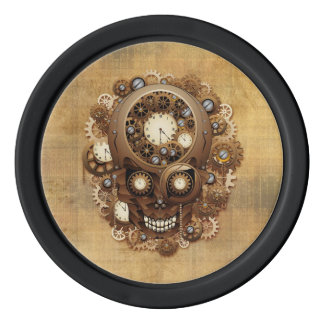 Steampunk Skull Vintage Style poker_chips Poker Chips