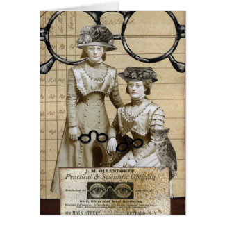Steampunk Spectacles Card