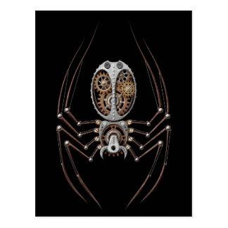 Steampunk Spider on Black Post Cards