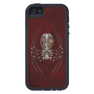 Steampunk Spider on Deep Red iPhone 5 Covers