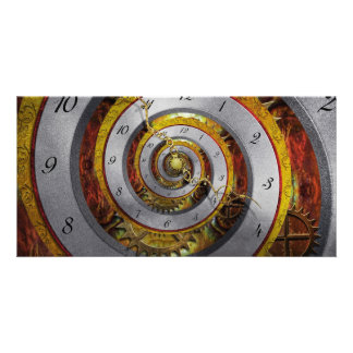 Steampunk - Spiral - Infinite time Customised Photo Card