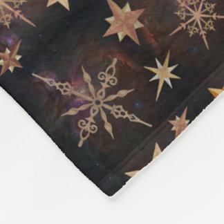 Steampunk Stars Fleece Blanket