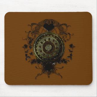 Steampunk stud art design mouse pads