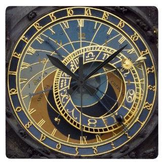 Steampunk style astronimical prague wall clocks