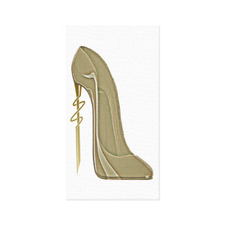 Steampunk Style Stiletto Shoe Art Canvas Poster Stretched Canvas Print