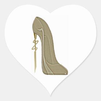 Steampunk Style Stiletto Shoe Art Heart Sticker