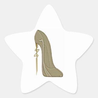Steampunk Style Stiletto Shoe Art Star Sticker